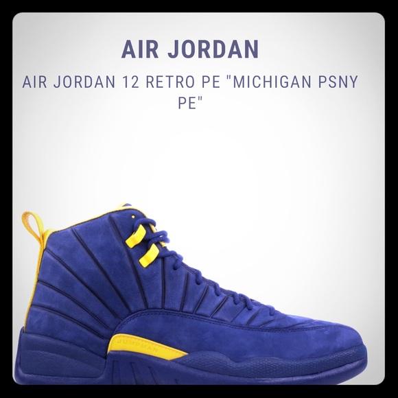 1e233750d98 Air Jordan Shoes   Retro 12 Pe Michigan Psny   Poshmark